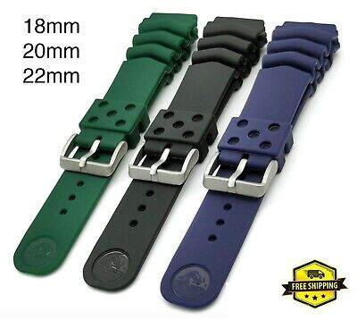 $ CDN23.34 • Buy 20mm 22mm Rubber Vented Seiko Diver Watch Band Strap Fits SKX007 SKX009 6309 Z22