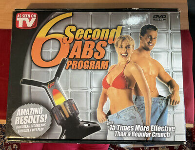 AU48.52 • Buy 6 Second Abs Abdominal Workout Machine With DVD Disc