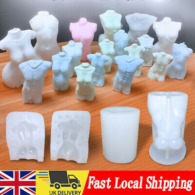 £8.99 • Buy Female Perfume Candle Moulds Silicone Human Body Candle Wax Making Soap Mold DIY