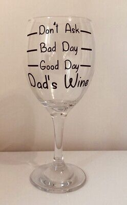 £4.25 • Buy PERSONALISED Good Day Bad Day Don't AskWine Glass Birthday,Any Name Can Be Added