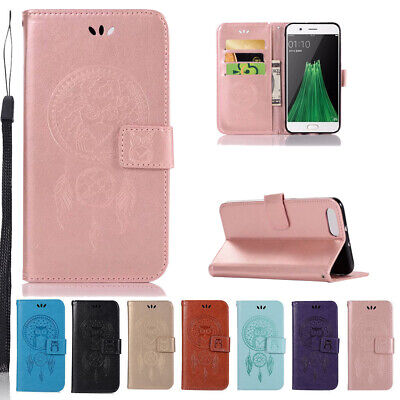AU15.98 • Buy For Oppo A57 A59S A73 F5 R11 R9s F3 Plus Owl Pattern Flip Leather Wallet Case