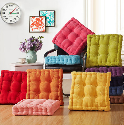 £14.25 • Buy Cotton Chunky Booster Cushion Thick Seat Pads Chair Armchair Garden Sofa Seat /