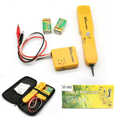 Cable Finder Tone Generator Probe Tracker Wire Network Tester Tracer Kit RJ11 • 15.73£