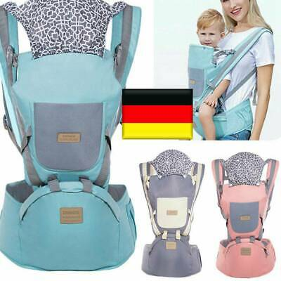 Ergonomic Infant Baby Carrier With Hip Seat Stool Adjustable Wrap Sling Backpack • 19.99£
