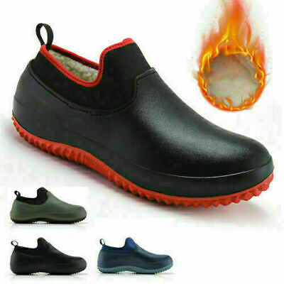 £20.99 • Buy Non-slip Chef Shoes Mens Womens Kitchen Safety Shoes Winter Lined Work Boots
