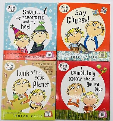 £8 • Buy Charlie And Lola Lauren Child Collection Of 4 Childrens Books Hardback Gd Cond