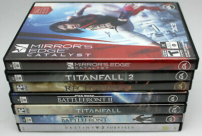 AU37.42 • Buy Lot Of 8 PC First Person Shooters Overwatch,Star Wars Battlefront,Mirror's Edge