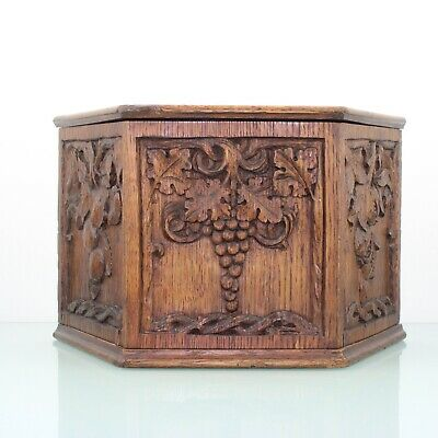 AU252.25 • Buy Arts & Crafts Carved Oak Wooden Wall Box.