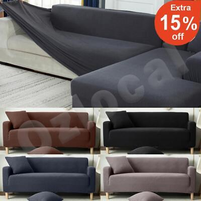 AU31.99 • Buy Sofa Cover Slipcover Protector Couch High Stretch Lounge 1/2/3/4 Seater L Shape