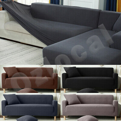 AU26.99 • Buy Sofa Cover Slipcover Protector Couch High Stretch Lounge 1/2/3/4 Seater L Shape