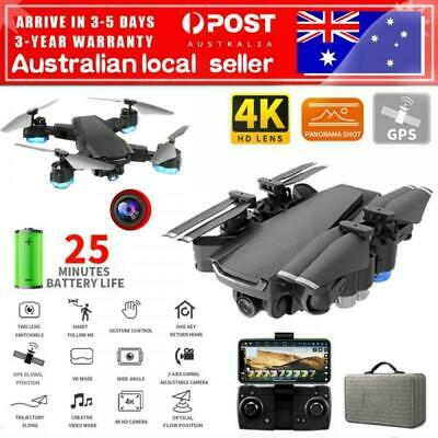 AU105.99 • Buy GPS Drone With 5G Wifi FPV 4KHD Camera RC Optical Quadcopter Brushless Dron AUS