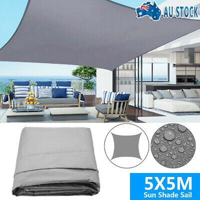 AU64.99 • Buy 5X5M Waterproof Sun Shade Sail Cloth Shadecloth Awning Canopy Rectangle Square