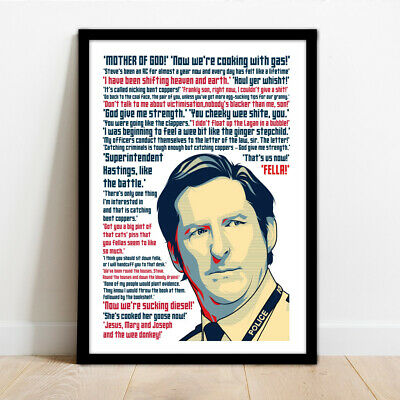 £14.99 • Buy Line Of Duty - Ted Hastings Quotes Collection - Framed Wall Art Print Poster!