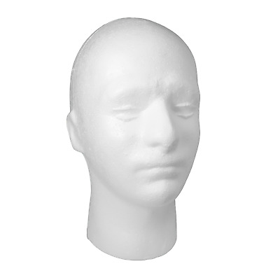 £9.99 • Buy Male Mannequin Head For Wigs Headphones Hats Accessories Polystyrene (POLYM)