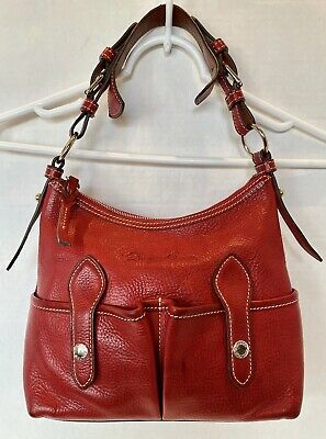 $69.99 • Buy Dooney & Bourke Small Lucy CP394 Red Florentine Vacchetta Leather Shoulder Bag