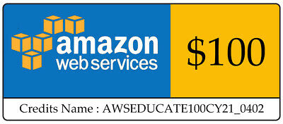 $ CDN76.37 • Buy AWS $100 Amazon Web Services Lightsail EC2 PromoCode Credit Code Instantly Sent