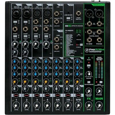 $229.99 • Buy Mackie ProFX10v3 ProFX10v3 10-Channel Professional Effects Mixer With USB