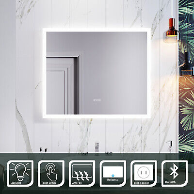 £106.99 • Buy 600x500mm Bathroom Mirror With Bluetooth Shaver Socket Demister Touch LED Light