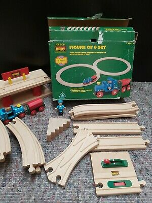 £24.95 • Buy BRIO - WOODEN TRAIN FIGURE Of 8 PLAYSET With EXTRAS!!! BOXED TOY.