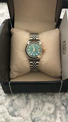 AU3078.11 • Buy Rolex 6916 18k & Steel Hulk Green Diamond  Date Lady Mainspring Box Certificate