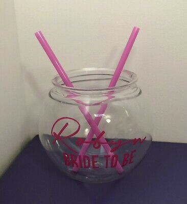 £4.99 • Buy Personalised  Small Cocktail Fish Bowl Wedding Hen  Party Baby Shower Halloween