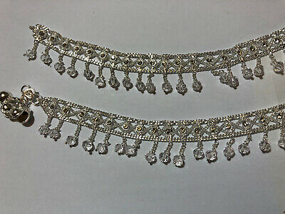 £6.99 • Buy New Arrival22ct *silver N1* Plated Indian Pak Pair Of Anklet Payal Layered Chain