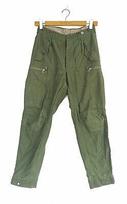 £10.31 • Buy Vintage Swedish M59 Army Tanker Trousers Pants Cargo Combat Military Zip Pockets
