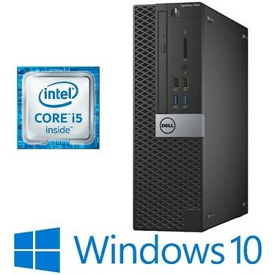 AU339 • Buy Dell Optiplex 7040 SFF PC Intel I5 6500 8G/16G 128G SSD DVDRW HDMI Win 10 Pro