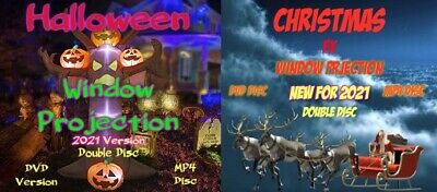 £20 • Buy Halloween & Christmas FX Window Projection Decoration Double Pack New For 2021