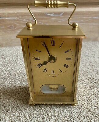 £45 • Buy Vintage METAMEC Gold Brass Carriage Clock Made In England Heavy Rare Brand New