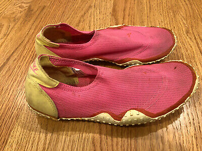 AU6.44 • Buy Vintage 1989 Nike Water Shoes Aqua Socks Size Small S 7 Womens Pink Yellow 80s