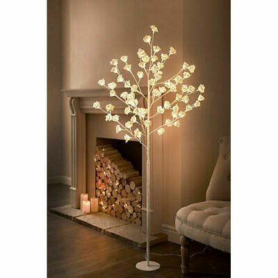£64.99 • Buy Tall LED Rose Tree Light Floor Lamp White Flower Petals BRAND NEW FREE DELIVERY