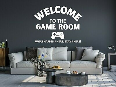 £3.99 • Buy Welcome To Game Room Gaming Wall Art Sticker Decal Removable Room Xbox PS5 D
