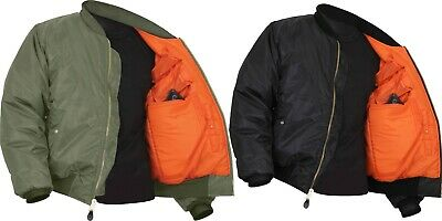 $56.99 • Buy Concealed Carry Air Force MA-1 Reversible Bomber Coat Flight Jacket