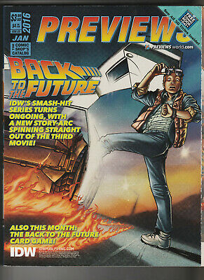 £5.99 • Buy PREVIEWS The Comic Shop's Catalog January 2016 - Back To The Future (Issue 328)