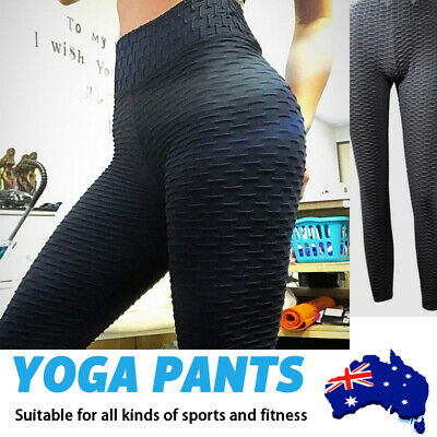 AU16.49 • Buy Women High Waist TikTok Leggings Ruched Anti-Cellulite Yoga Pants Gym Fitness