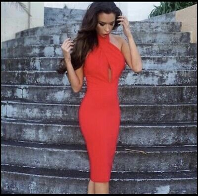 AU120 • Buy Elle Zeitoune Red Midi Dress 10