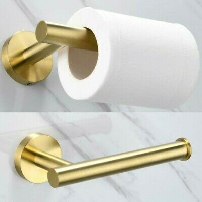 AU24.66 • Buy Storage Shelf Toilet Roll Paper Holder Wall Hanger Wall Mounted Brushed Gold