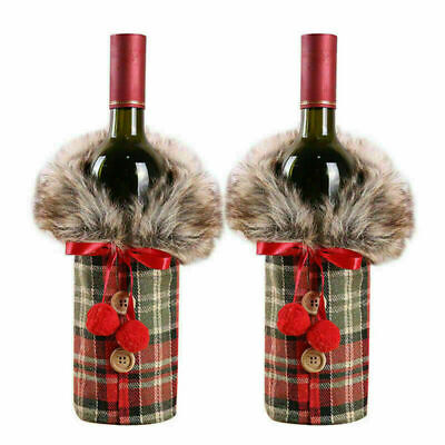 £2.99 • Buy Fancy Santa Claus Outfit Christmas Wine Bottle Bag Cover Xmas Table Decor NEW