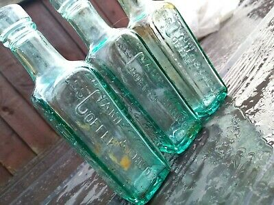 £25 • Buy 3X Antique Patersons Glasgow Green Glass Bottle - Camp Coffee & Chicory Vintage