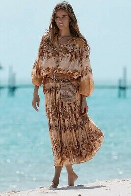 AU130 • Buy Spell And The Gypsy Collective Coco Lei Midi Skirt Caramel Size S