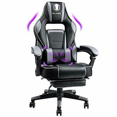 AU393.66 • Buy Massage Gaming Chair High Back PU Leather PC Racing Computer Desk Black & Purple