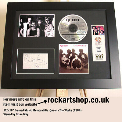 £249.98 • Buy Queen SIGNED BY BRIAN MAY The Works Autograph Freddie Mercury WORLD SHIP