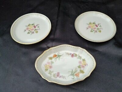£19.99 • Buy WEDGWOOD MIRABELLE 2 X COASTERS & BUTTER, PRESERVES, JAM DISH