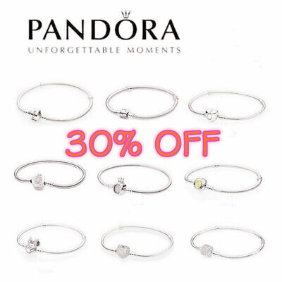 AU23.99 • Buy Genuine Pandora 925 Silver You Are Always In My Heart Bangle Bracelet+Box Gifts