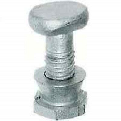 £24.99 • Buy 100no 8mm T Head Bolts And Permacone Shear Nuts For W Section Palisade