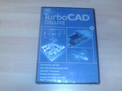 IMSI TurboCad 12 DELUXE  CAD Design      NEW AND SEALED • 50£