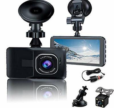 AU71.54 • Buy 1080P Dash Cam Front And Rear Camera For Cars With 32GB SD Card IPS Screen 170°