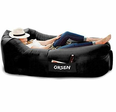 highest quality Nylon 210T Inflatable sun lounger Air sofa lazy bag waterproof
