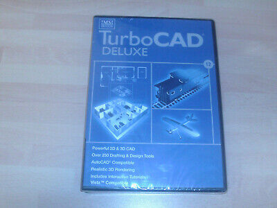 IMSI TurboCad 12 DELUXE  CAD Design      NEW AND SEALED • 49.99£